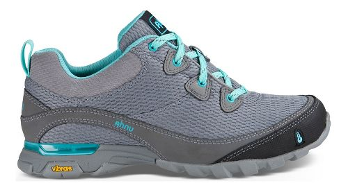 Womens Ahnu Sugarpine Air Mesh Hiking Shoe - Grey/Teal 10.5