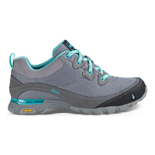 Womens Ahnu Sugarpine Air Mesh Hiking Shoe - Grey/Teal 5.5