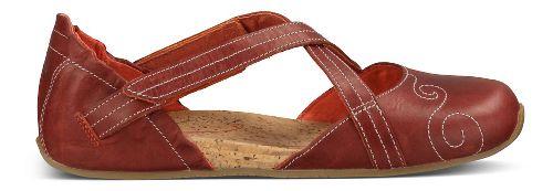 Womens Ahnu Karma Latitude Leather Casual Shoe - Red Stone 9