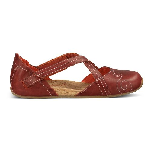 Womens Ahnu Karma Latitude Leather Casual Shoe - Red Stone 5.5