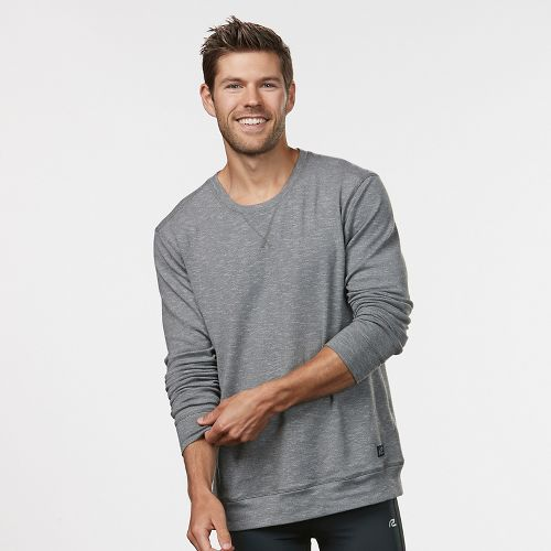 Mens R-Gear Every Day Crew Neck Long Sleeve Technical Tops - Cinderblock/Steel L