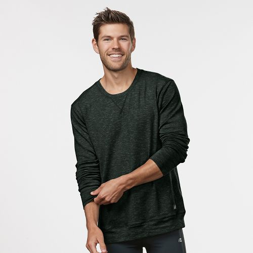 Mens Road Runner Sports Every Day Crew Neck Long Sleeve Sweater Technical Tops - Jungle/Black ...