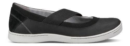 Womens Ahnu Telegraph Leather Casual Shoe - New Black 8