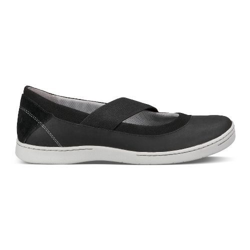 Womens Ahnu Telegraph Leather Casual Shoe - New Black 8