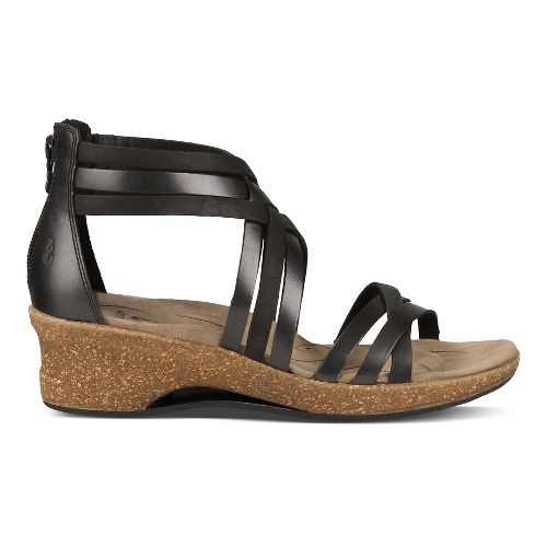Womens Ahnu Trolley Sandals Shoe - Black 5