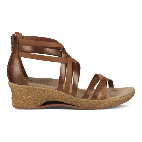 Womens Ahnu Trolley Sandals Shoe - Brandy 10