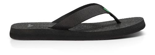 Womens Sanuk Yoga Mat Webbing Sandals Shoe - Black/Black 7