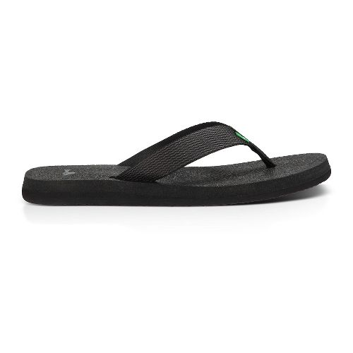 Womens Sanuk Yoga Mat Webbing Sandals Shoe - Black/Black 8