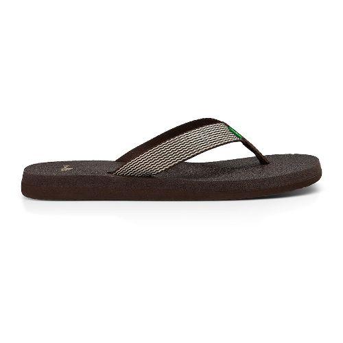 Womens Sanuk Yoga Mat Webbing Sandals Shoe - Brown/Natural 10