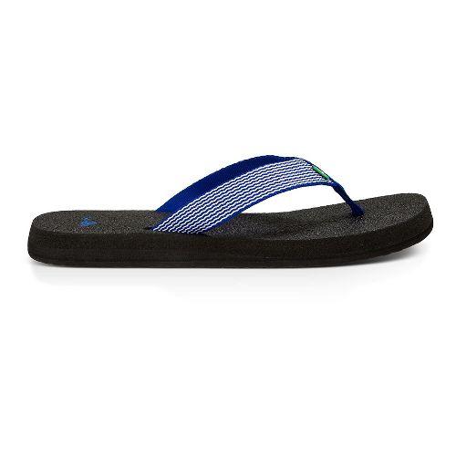 Womens Sanuk Yoga Mat Webbing Sandals Shoe - Deep Blue/Off White 11