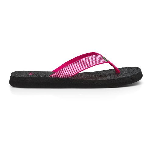 Womens Sanuk Yoga Mat Webbing Sandals Shoe - Fuchsia/White 8