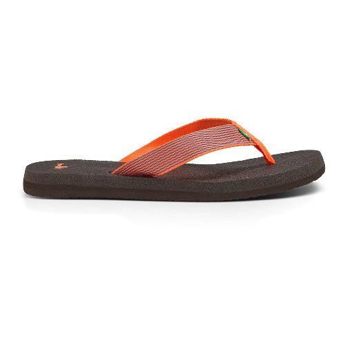 Womens Sanuk Yoga Mat Webbing Sandals Shoe - Hot Coral/Slate Blue 8