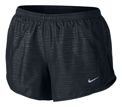Womens Nike Modern Embossed Tempo Lined Shorts - Black L