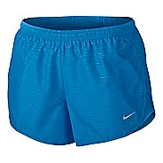 Womens Nike Modern Embossed Tempo Lined Shorts - Light Photo Blue XL