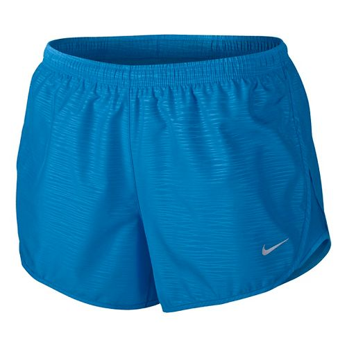 Womens Nike Modern Embossed Tempo Lined Shorts - Light Photo Blue M
