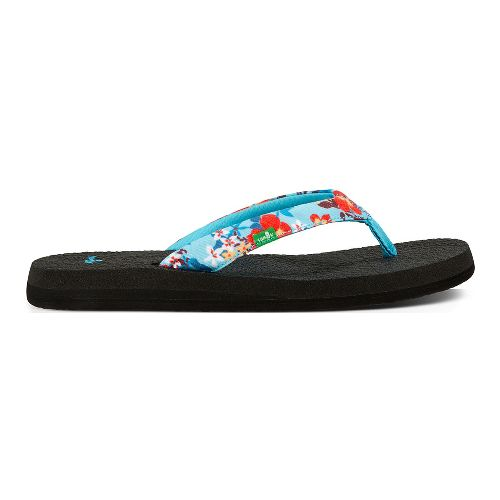 Womens Sanuk Yoga Meta Sandals Shoe - Aqua Floral 8