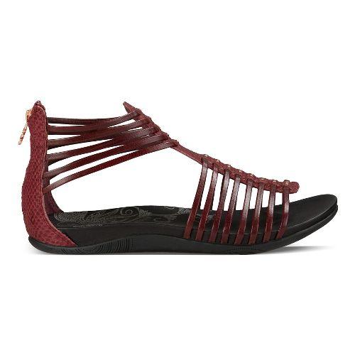 Womens Ahnu Asha Sandals Shoe - Oxblood 7.5