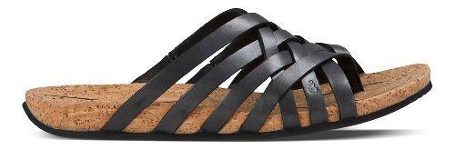 Womens Ahnu Maia Thong Sandals Shoe - Black 5
