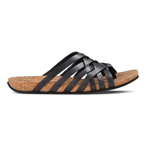 Womens Ahnu Maia Thong Sandals Shoe - Black 8