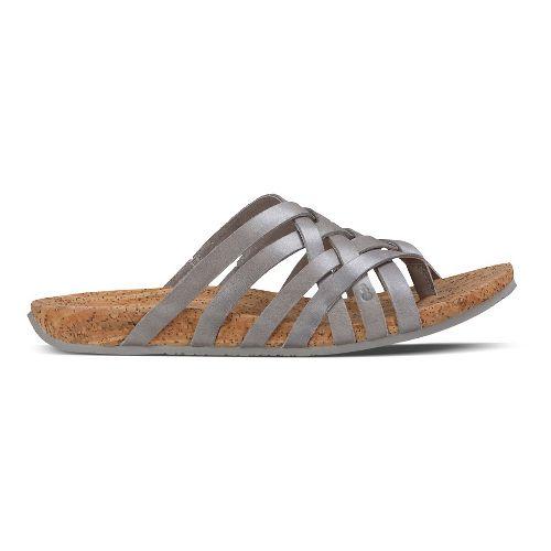 Womens Ahnu Maia Thong Sandals Shoe - Silver 5