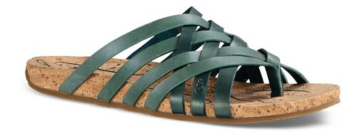 Womens Ahnu Maia Thong Sandals Shoe - Teal/Jade 9