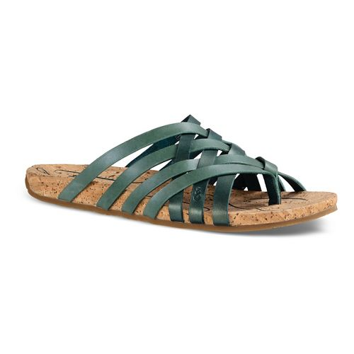Womens Ahnu Maia Thong Sandals Shoe - Teal/Jade 5