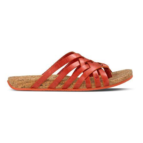 Womens Ahnu Maia Thong Sandals Shoe - Red Stone 7
