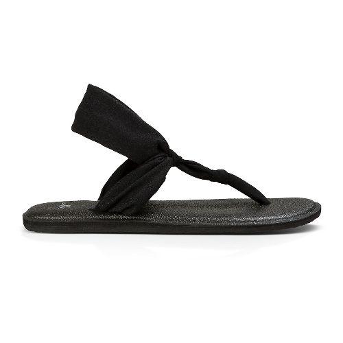 Womens Sanuk Yoga Sling Ella Sandals Shoe - Black 7