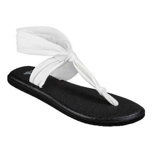 Womens Sanuk Yoga Sling Ella Sandals Shoe - Navy Peony 8