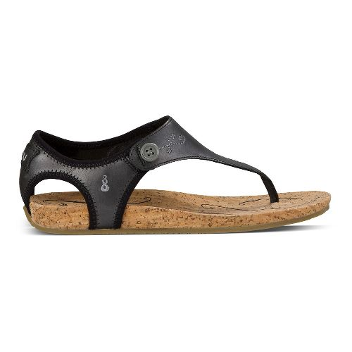 Womens Ahnu Serena Sandals Shoe - Black 7