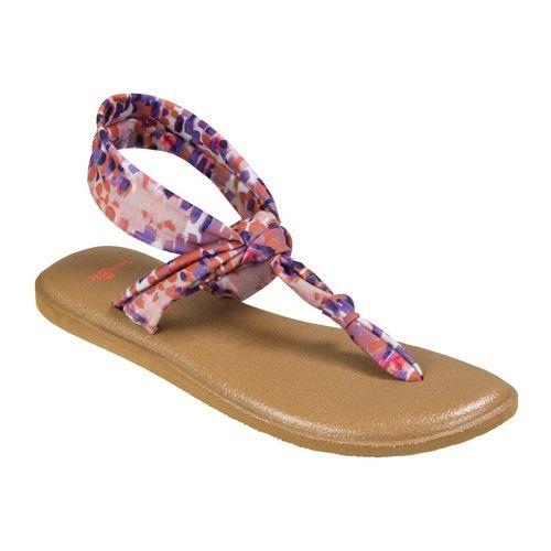 Womens Sanuk Yoga Sling Ella Prints Sandals Shoe - Spiced Coral Rain 5