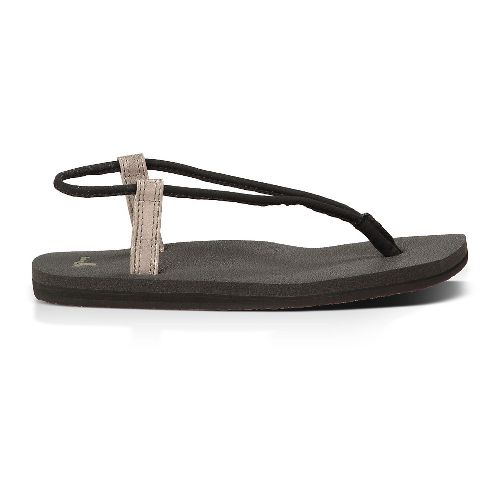 Womens Sanuk Yoga Sling Fling Sandals Shoe - Black/Pewter 8