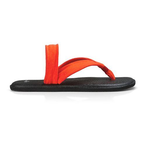 Womens Sanuk Yoga Triangle Sandals Shoe - Flame 8