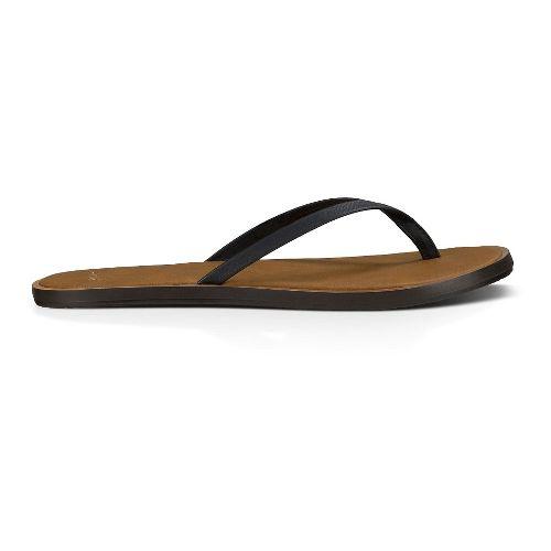 Womens Sanuk Yoga Venus Sandals Shoe - Black 6