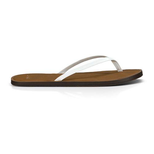 Womens Sanuk Yoga Venus Sandals Shoe - White 9