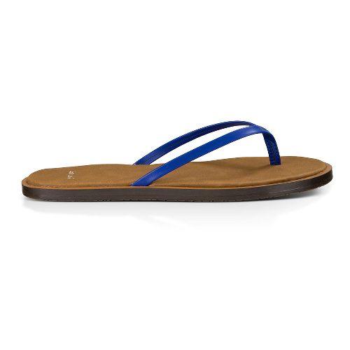 Womens Sanuk Yoga Venus Sandals Shoe - Deep Blue 7