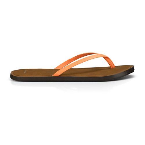 Womens Sanuk Yoga Venus Sandals Shoe - Hot Coral 5