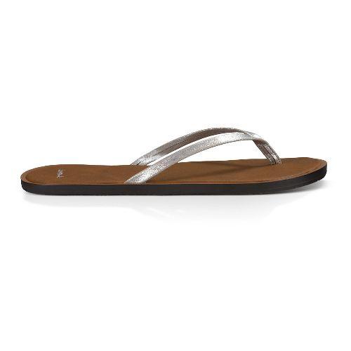 Womens Sanuk Yoga Venus Glow Sandals Shoe - Silver 7
