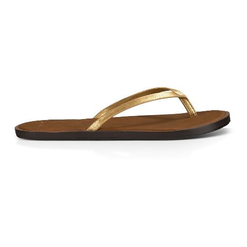 Womens Sanuk Yoga Venus Glow Sandals Shoe - Gold 10