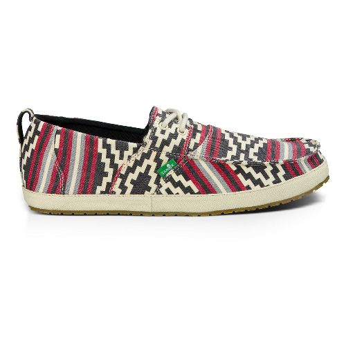 Mens Sanuk Admiral Funk Casual Shoe - Gaucho Blanket/Red 8