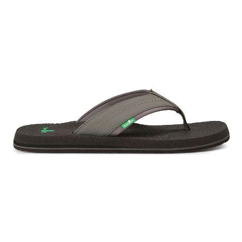 Mens Sanuk Beer Cozy 2 Sandals Shoe - Charcoal 11