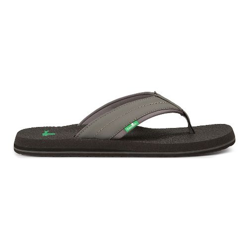 Mens Sanuk Beer Cozy 2 Sandals Shoe - Charcoal 13
