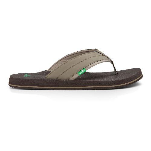 Mens Sanuk Beer Cozy 2 Sandals Shoe - Brindle 12