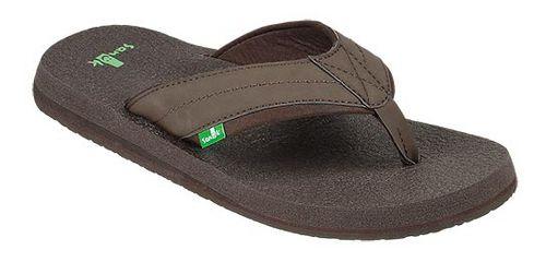 Mens Sanuk Beer Cozy 2 Sandals Shoe - Dark Brown 14