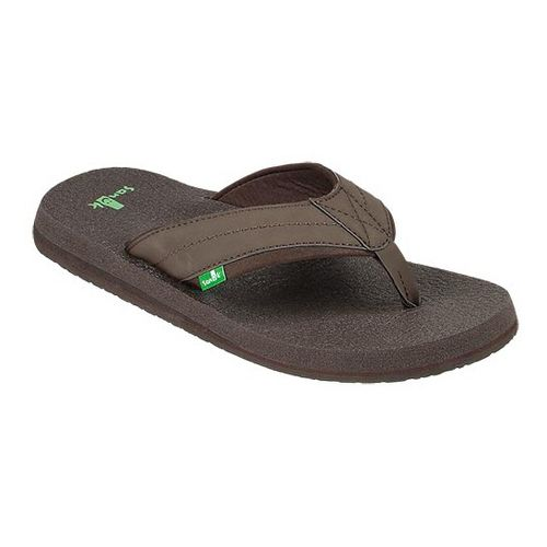Mens Sanuk Beer Cozy 2 Sandals Shoe - Dark Brown 11