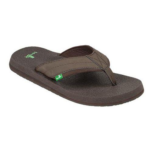 Mens Sanuk Beer Cozy 2 Sandals Shoe - Dark Brown 6