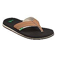 Mens Sanuk Beer Cozy 2 Sandals Shoe - Tan/Tobacco 9