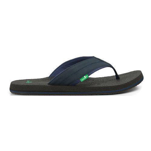 Mens Sanuk Beer Cozy 2 Sandals Shoe - White/Grey 14