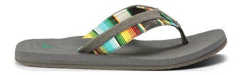 Mens Sanuk Beer Cozy Light Funk Sandals Shoe - Black Hawaiian 9