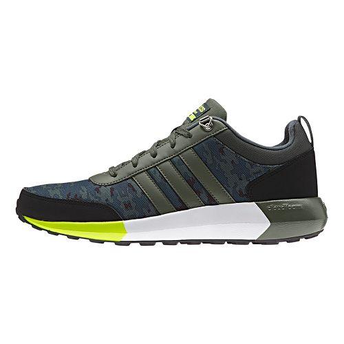 Mens adidas Cloudfoam Race WTR Casual Shoe - Green/Solar Yellow 11.5